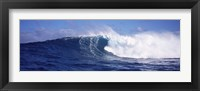 Framed Rough waves in the sea, Tahiti, French Polynesia
