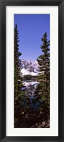 Framed Lake in front of mountains, Banff, Alberta, Canada