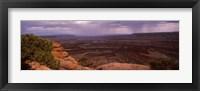 Framed Clouds over an arid landscape, Canyonlands National Park, San Juan County, Utah