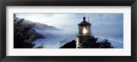 Framed Top of Heceta Head Lighthouse in the Mist, Oregon