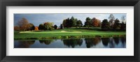 Framed Pond in a golf course, Westwood Golf Course, Vienna, Fairfax County, Virginia, USA