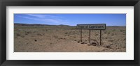 Framed Tropic Of Capricorn sign in a desert, Namibia