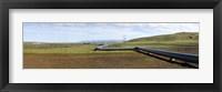 Framed Hot water pipeline on a landscape, Reykjavik, Iceland