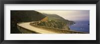 Framed Bridge at the coast, Bixby Bridge, Big Sur, Monterey County, California, USA