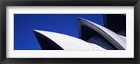Framed Low angle view of opera house sails, Sydney Opera House, Sydney Harbor, Sydney, New South Wales, Australia