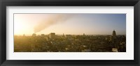Framed Old Havana, Cuba with Smokestack