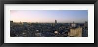 Framed High angle view of a city, Old Havana, Havana, Cuba (Blue and Purple Sky)