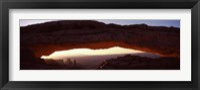 Framed Natural arch at sunrise, Mesa Arch, Canyonlands National Park, Utah