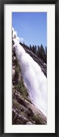 Framed Low angle view of a waterfall, Nevada Fall, Yosemite National Park, California, USA