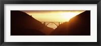 Framed Silhouette of a bridge at sunset, Bixby Bridge, Big Sur, California (horizontal)