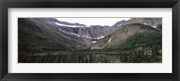 Framed Lake surrounded with mountains, Mountain Lake, US Glacier National Park, Montana, USA