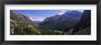 Framed Alpine Lake, US Glacier National Park, Montana