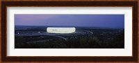 Framed Soccer stadium lit up at nigh, Allianz Arena, Munich, Bavaria, Germany