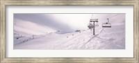 Framed Ski lifts in a ski resort, Kitzbuhel Alps, Wildschonau, Kufstein, Tyrol, Austria