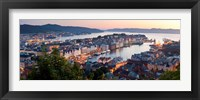 Framed Buildings in a city, Bergen, Hordaland County, Norway