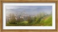 Framed High angle view of houses in a village, Biertan, Sibiu County, Transylvania, Romania