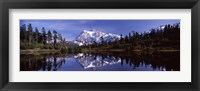 Framed Mt Shuksan Reflection at Picture Lake, North Cascades National Park