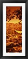 Framed Mountain range, Mather Point, Grand Canyon National Park, Arizona