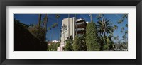 Framed Trees in front of a hotel, Beverly Hills Hotel, Beverly Hills, Los Angeles County, California, USA