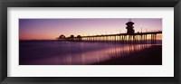 Framed Pier in the sea, Huntington Beach Pier, Huntington Beach, Orange County, California