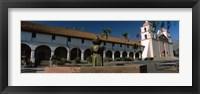 Framed Fountain at a church, Mission Santa Barbara, Santa Barbara, California, USA