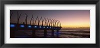 Framed New pier constructed on beach front, Umhlanga, Durban, KwaZulu-Natal, South Africa