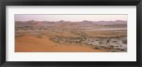 Framed Panoramic view of sand dunes viewed from Big Daddy Dune, Sossusvlei, Namib Desert, Namibia