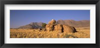 Framed Rock formations in a desert, Brandberg Mountains, Damaraland, Namib Desert, Namibia