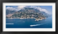 Framed Town at the waterfront, Amalfi Coast, Salerno, Campania, Italy