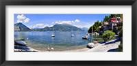 Framed Boats on Lake Como