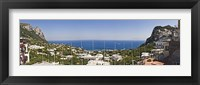 Framed Town at the waterfront, Marina Grande, Capri, Campania, Italy