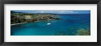 Framed Sailboat in the bay, Honolua Bay, Maui, Hawaii, USA