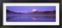 Framed Reflection of mountains in a river, Oxbow Bend, Snake River, Grand Teton National Park, Teton County, Wyoming, USA