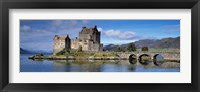 Framed Castle on an island, Eilean Donan, Loch Duich, Dornie, Highlands Region, Scotland