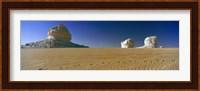 Framed Rock formations in a desert, White Desert, Farafra Oasis, Egypt