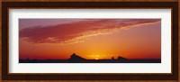 Framed Silhouette of rock formations in a desert, White Desert, Farafra Oasis, Egypt