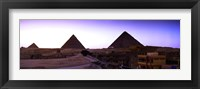 Framed Pyramids at sunset, Giza, Egypt