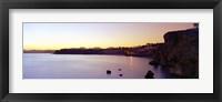 Framed Coastal city at dusk, Ras Um Sid, Sharm al-Sheikh, Sinai Peninsula, Egypt