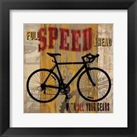 Framed Full Speed Ahead