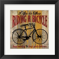 Framed Life is Like Riding a Bicycle