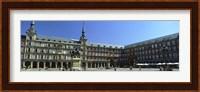 Framed Tourists at a palace, Plaza Mayor, Madrid, Spain