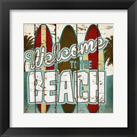 Framed Welcome to the Beach