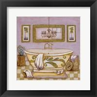 Framed Lavender Bath I