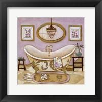 Framed Lavender Bath II