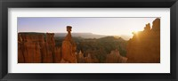 Framed Rock formations in a canyon, Thor's Hammer, Bryce Canyon National Park, Utah, USA