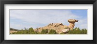Framed Rock formation on a landscape, Camel Rock, Espanola, Santa Fe, New Mexico, USA