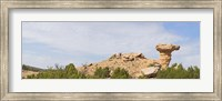 Framed Rock formation on a landscape, Camel Rock, Espanola, Santa Fe, New Mexico, USA