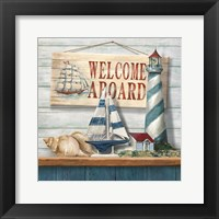 Welcome Aboard Framed Print