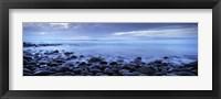 Framed Beach at dusk, Westward Ho, North Devon, Devon, England