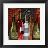 The Wine List I Framed Print